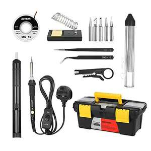 Soldering Iron Kit 60W Adjustable Temperature Welding Irons Tool - Prime £12.34 / £17.09 non prime Sold by ECmall and Fulfilled by Amazon