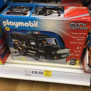 Playmobil police truck scanning at £10 instore at tesco orpington