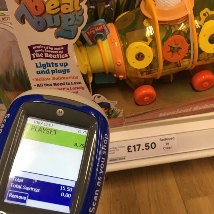 Beat bugs yellow submarine £8.75 instore  at tesco