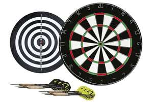 Michael Van Gerwen Flock Dart Board + 2 sets of darts £7 @ Tesco Direct