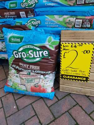 Gro-sure grow bags 50l @ homebase Lincoln was £4.99 now £2