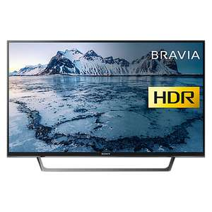 """£449 (Was £479) Sony Bravia LED TV From John Lewis, with HDR, Full HD 1080p Smart TV, 49"""" with Freeview Play & Cable Management, Black"""