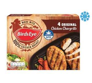 Birds Eye 4 Original Chicken Chargrills  £1.50 at Asda