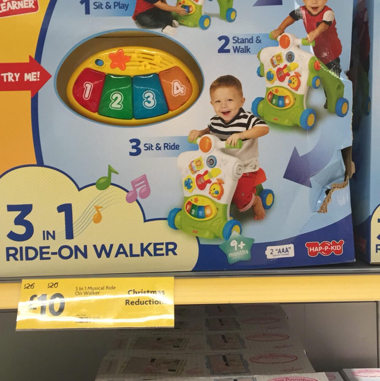 3 in 1 Walker / ride on £10 @ Morrisons - Sheldon