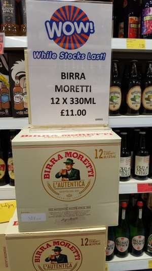 12 x 330ml bottles of Birra Moretti £11 in store at B&M's