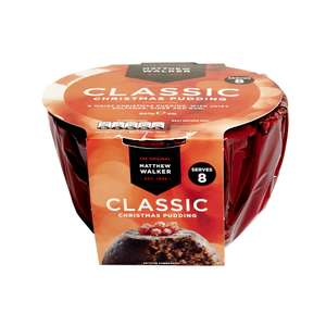 Half price Matthew Walker Classic Xmas Pudding 907g @Wilkinsons for £1.60