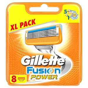 Gillette Fusion 8 Power Razor Blades - 13.80£ with code SNSprime / 11.21£ with code + subscribe and save