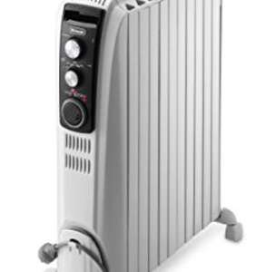 De'longhi TRD4 1025T Dragon 4 Oil Filled Radiator with Timer, 2.5 KW - White £89.99 @ Amazon