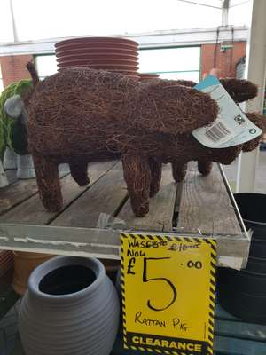 Rattan pig Homebase Lincoln £5 was £15