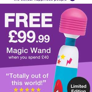 Free 'Magic Wand' when you spend £40 @ Love honey