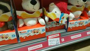Christmas Kinder chocolate mini + fluffy toy £1.25 @ co-op instore