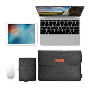 Macbook 13.3 Inch Laptop Felt Sleeve Carrying Case with Mouse Pouch £5.77 prime / £9.76 non prime  Sold by aoputek and Fulfilled by Amazon