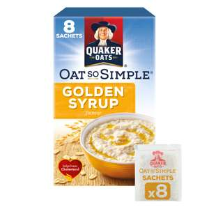 Quaker Oat So Simple (8 Pack) Golden Syrup/Original 87p @ Iceland