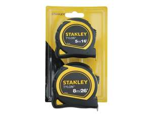 5mtr and 8mtr Stanley Tylon Tape twin pack £7.50 + £2.50 del on orders under £75 @UK toolbox