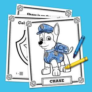 Free PAW Patrol colouring pages to download and print