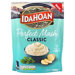 Idahoan Classic Mash (180g) £1 @ Tesco/Asda (Also Cheese / Butter & Herb / Roasted Garlic 109g)