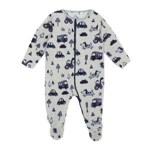 bluezoo - Baby boys' grey transport print all in one - £5.60 @ Debenhams (C&C)