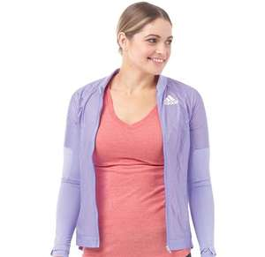 adidas Womens Adizero Formotion Running Track Jacket Light Flash Purple £8.99 @ M and M Direct