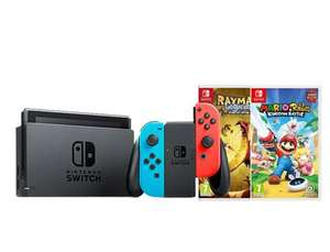 Nintendo Switch Neon with Rayman & Mario & Rabbids (Switch)  £289.99 @ Grainger Games