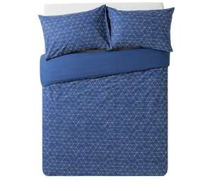 HOME Navy Geometric Bedding Set - Double - Argos - £5.99 (C&C)