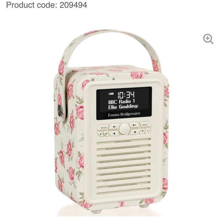 Emma Bridgewater DAB radio/Bluetooth speaker £40 (with code) @sainsburys