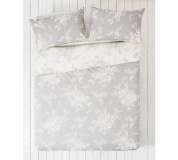 Collection Lottie Grey and White Bedding Set - Kingsize - Argos - £7.49