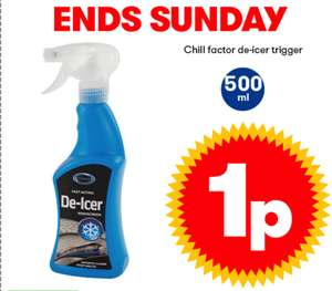 Chill Facter de-icer trigger spray 500ml. 1p instore @ JTF *see description*
