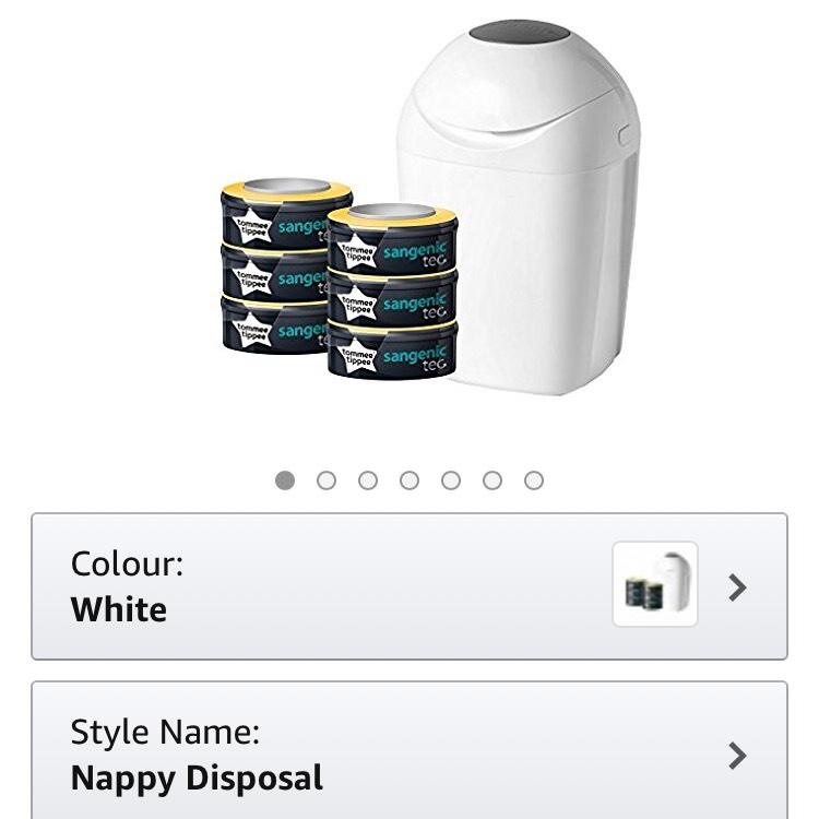 Sangenic bin + 6 refill cassettes - £20 @ Amazon