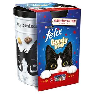 Felix Goody bag Christmas edition treats tin RTC 75p instore @ Tesco (was £4)