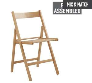Simple Value Wooden Folding Chair - Natural £11 each or 2 for £16.50 @ Argos