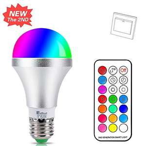 Lightning Deal - E27 Colour Changing Light Bulb - £7.64  (Prime) / £11.65 (non Prime) Sold by HYDONG and Fulfilled by Amazon