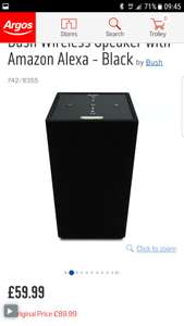 Bush Wireless Speaker with Amazon Alexa - Black £59.99 at Argos