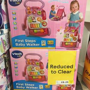 Reduced to clear Tesco instore Alloa Vetch baby's first walker in pink - £8.25