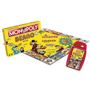 The Beano Monopoly & The Beano Top Trumps Duo was £41.99 now £23.99 Del w/code @ DC Thompson