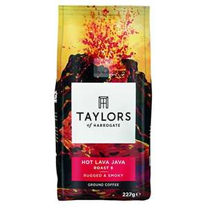 Taylors of Harrogate 3 x 227g  Hot Lava Java Extreme Roast Ground Coffee £5.33 - Amazon - Subscribe and Save