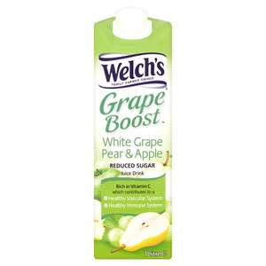 Welch's White Grape Pear And Apple Juice Drink 1 Litre 65p at Tesco,