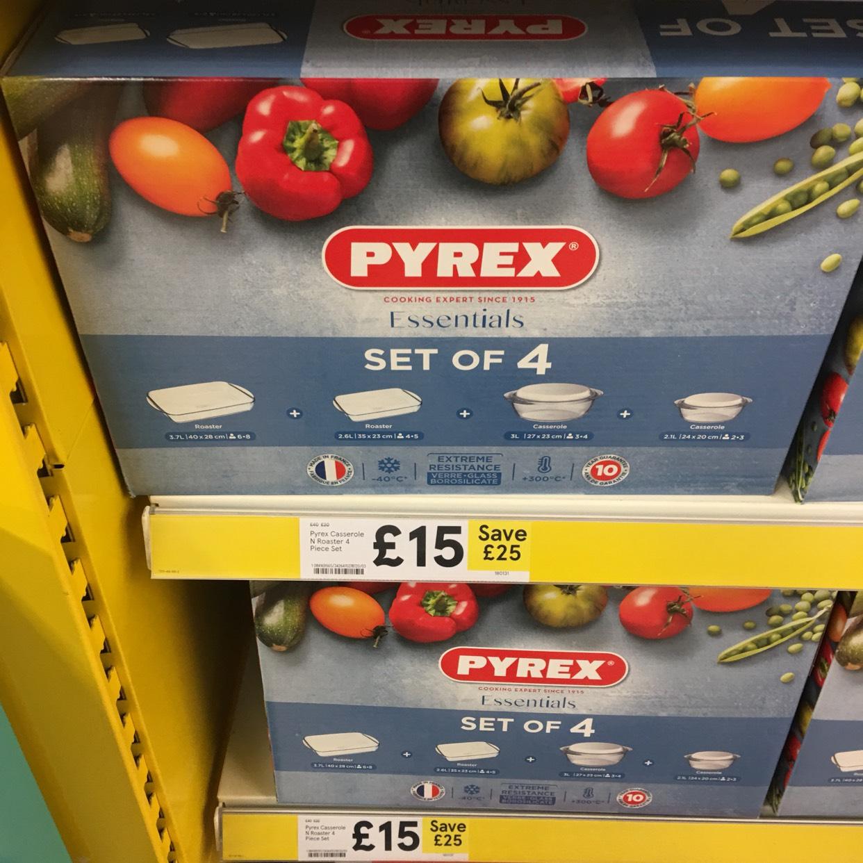 Pyrex set of 4 £15 instore @ Tesco