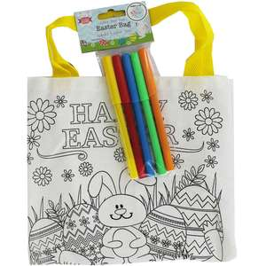 Colour Your Own Easter Bag (inc Pens) £1 C+C @ The Works