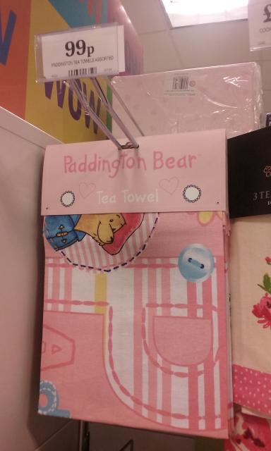 Paddington Bear tea towel 99p in Home Bargains