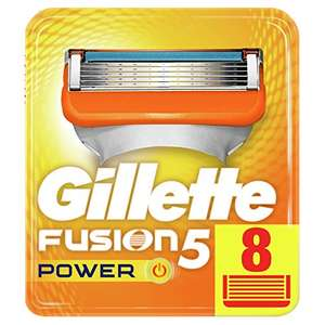 Gillette Fusion 8 Power Razor Blades - £13.80 with code SNSprime / £11.21 with code + subscribe and save