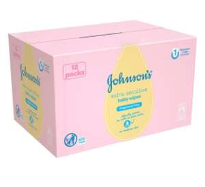 Johnsons baby wipes 12 pack £6.66 @ Tesco