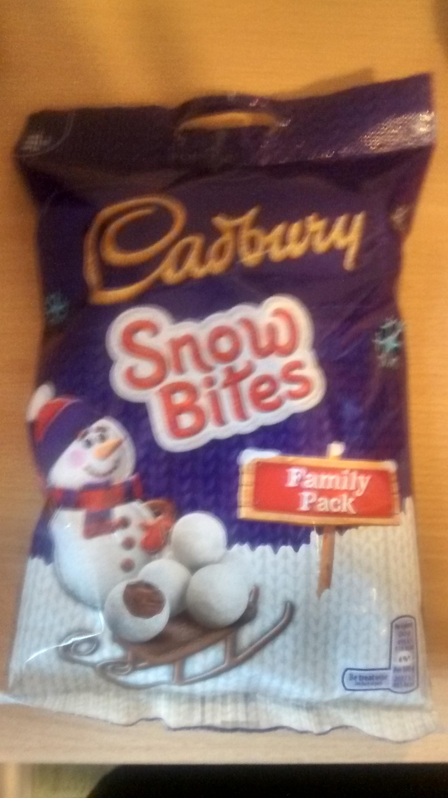 Cadbury Snow Bites Family Pack (329g) £1 in ASDA