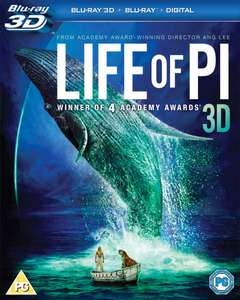 Life of Pi 3D Blu-ray + Blu-ray £1 @ Poundland - Weston-super-Mare