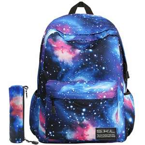 Galaxy Backpack with Pencil case £6.98 prime / £10.97 non prime Sold by Skating Lover and Fulfilled by Amazon