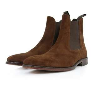 Loake brown/black suede Chelsea boots £99 tk maxx