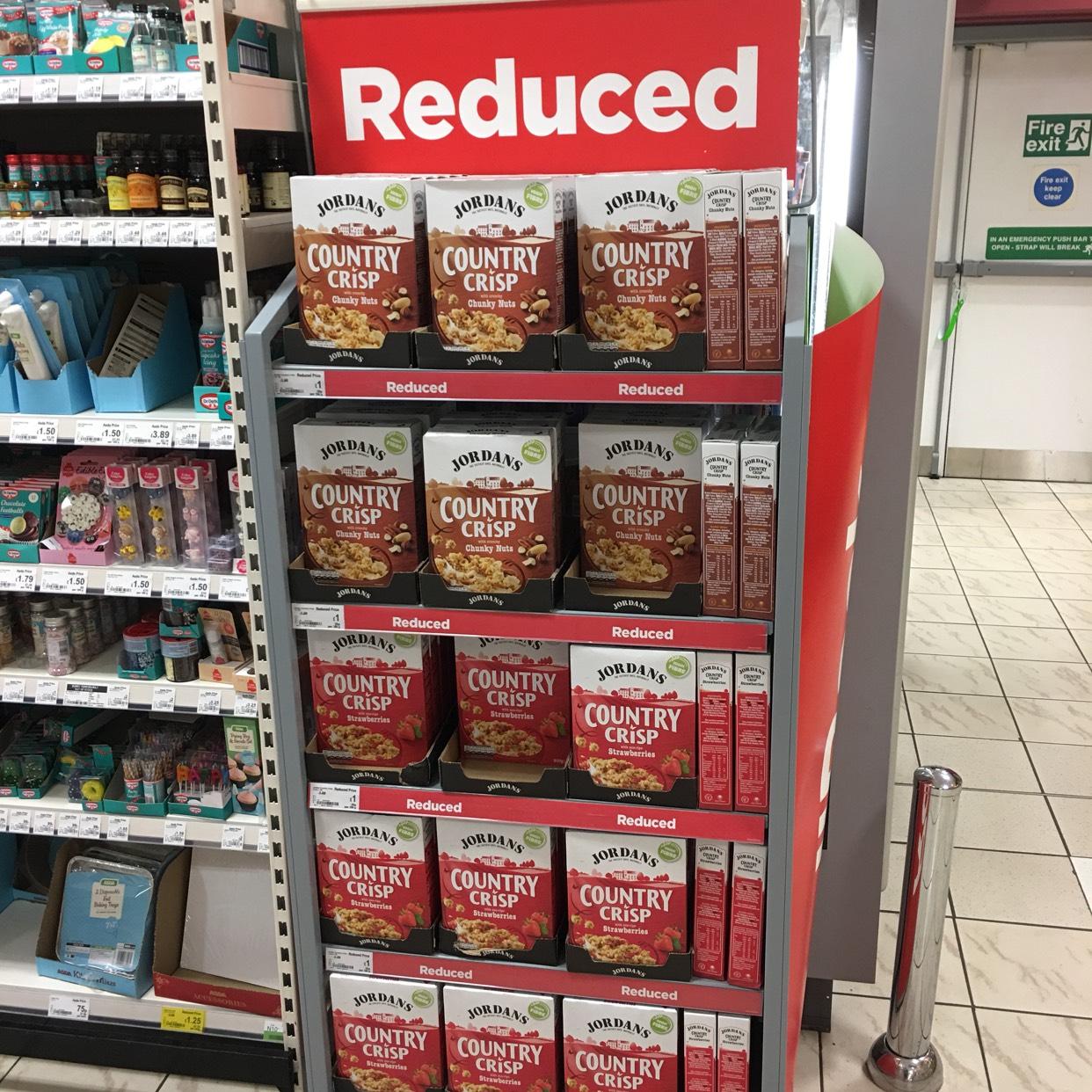 Jordan's County Crisp 500g strawberry/nut reduced to £1 @ Asda kilkeel