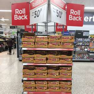 Twix 9 fingers reduced to 50p in Asda Downpatrick instore