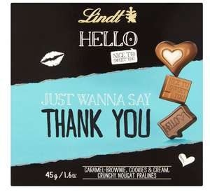 Lindt Hello Thank You 45 g (Pack of 9) £12.84 prime / ££17.59 non prime @ Amazon