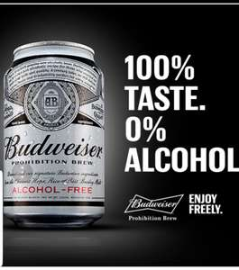 Free can of 0% Budweiser at Tesco If you enter details @ budprohibition.com