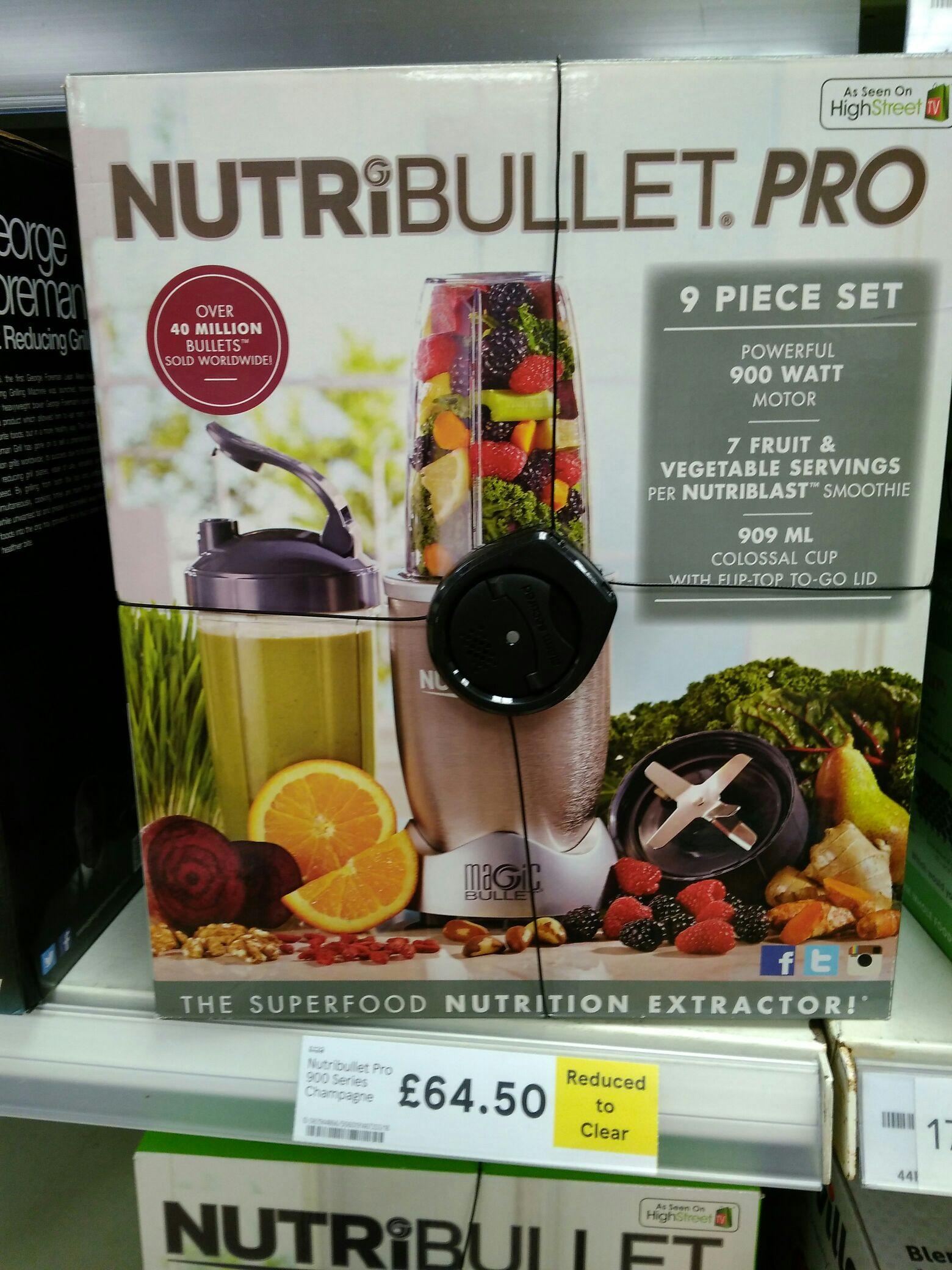 Nutribullet Pro 900 series RTC £64.50 Tesco instore
